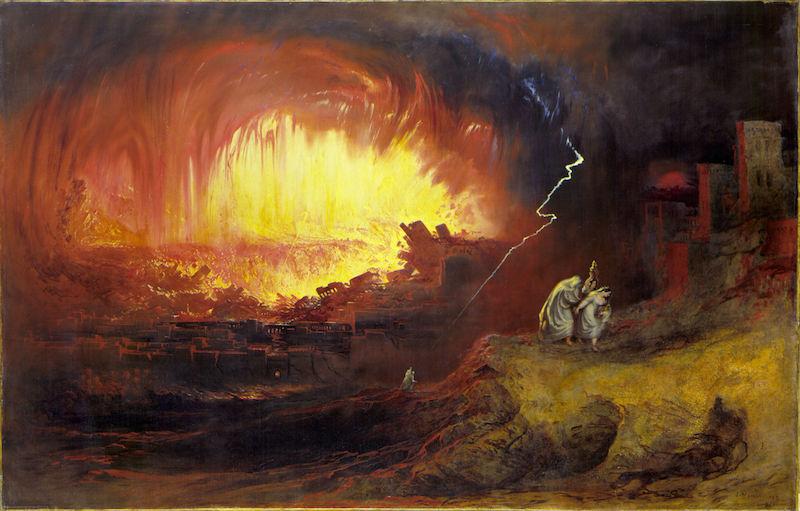 ״סדום ועמורה״ של ג׳ון מרטין, 1852